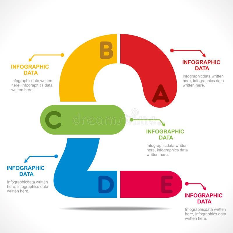 Información-gráficos creativos de la moneda stock de ilustración