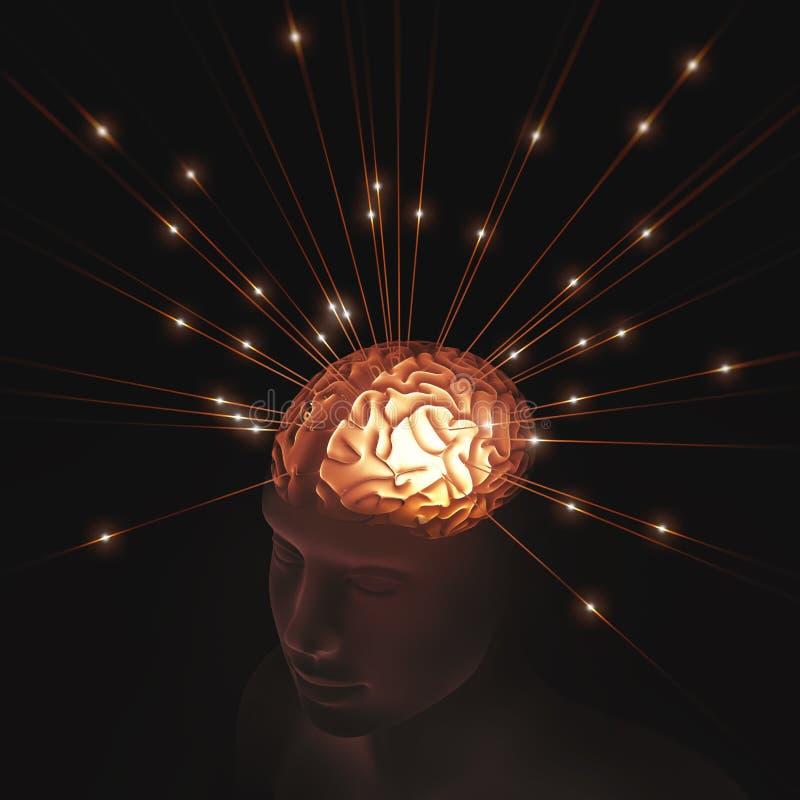 Información mental del pulso ilustración del vector