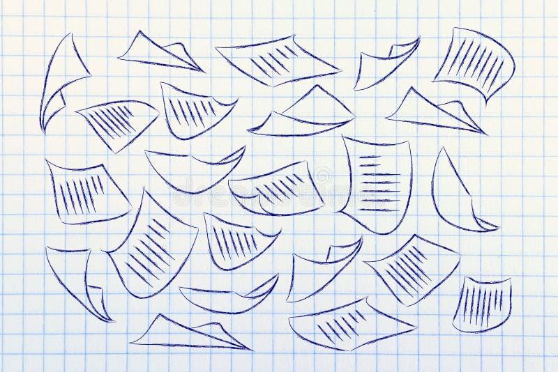 Informaci i dane przeciążenie organizatorska wiedza i biznes, ilustracji