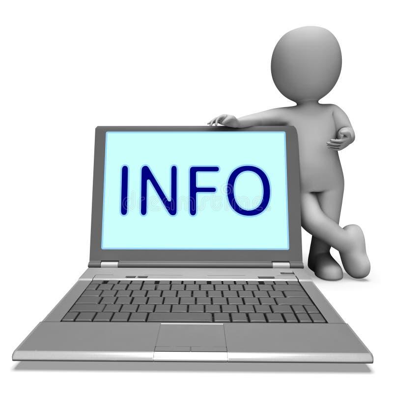 Informacja Na laptopie Znaczy Ewidencyjną wiedzę I pomoc Online royalty ilustracja