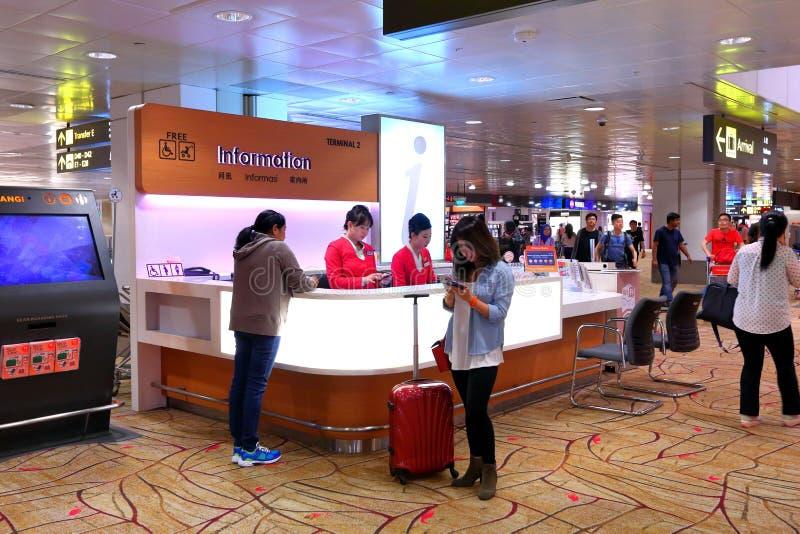 Informacja odpierająca przy Changi lotniskiem Singapur obraz royalty free