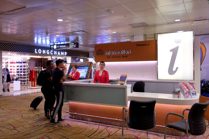Informacja odpierająca przy Changi lotniskiem Singapur zdjęcie royalty free