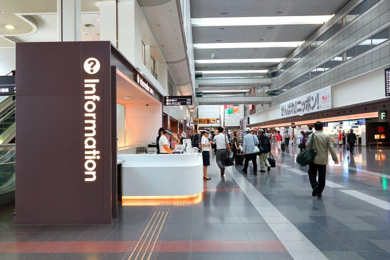 Informacja odpierająca przy Haneda lotniskiem D1 Japonia fotografia stock