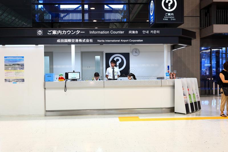 Informacja odpierająca przy Narita Lotniskowym T2 Japonia zdjęcie royalty free
