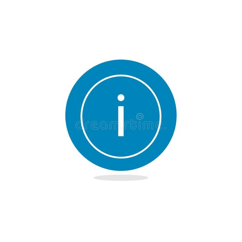 Informacja! Płaska projekt ikona Wiadomości i networking symbol ilustracji