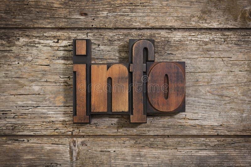 Informacja pisać z letterpress typ zdjęcia stock