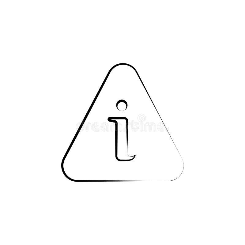 informacja, wokoło, pomocy ręka rysująca ikona Konturu symbolu projekt od biznesu setu royalty ilustracja