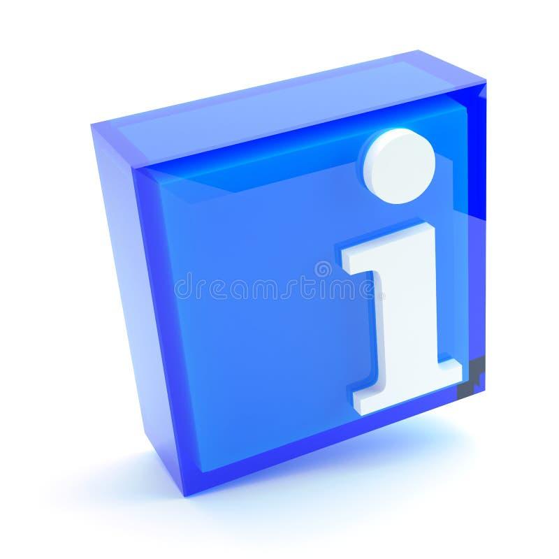 Informacja znak, 3D ilustracja ilustracja wektor