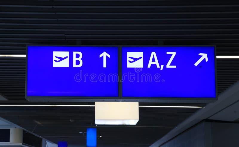 Informacja znak przy lotniskiem międzynarodowym obrazy royalty free