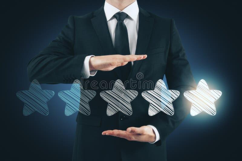 Informacje zwrotne i kryterium pojęcie obraz stock