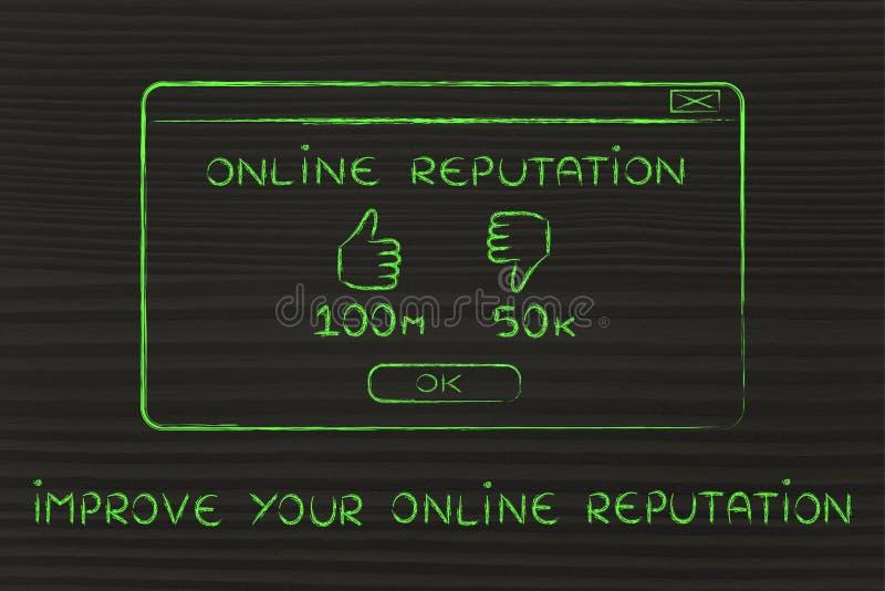 Informacje zwrotne wystrzał z wiele aprobatami, tekst Ulepsza twój online ponownego zdjęcie stock
