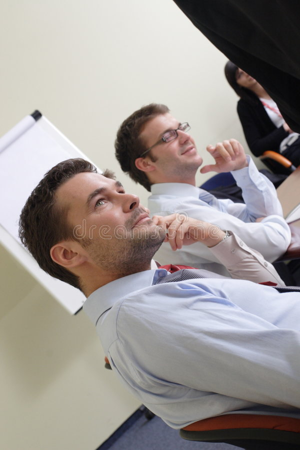informal business meeting stock photo