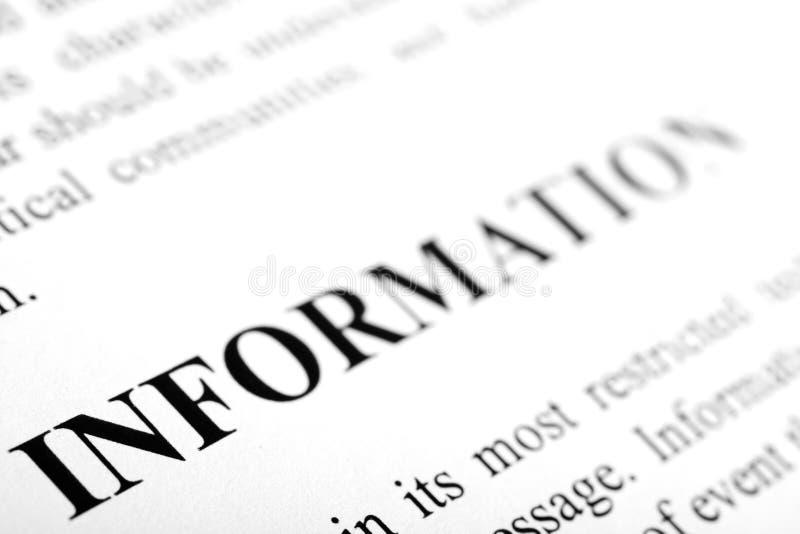 Informatie stock afbeelding