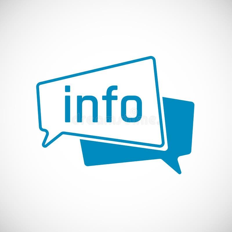 Informatie als Pictogram van de Toespraakbel Element van Webpictogram voor mobiel concept en Web apps Vector illustratie royalty-vrije illustratie