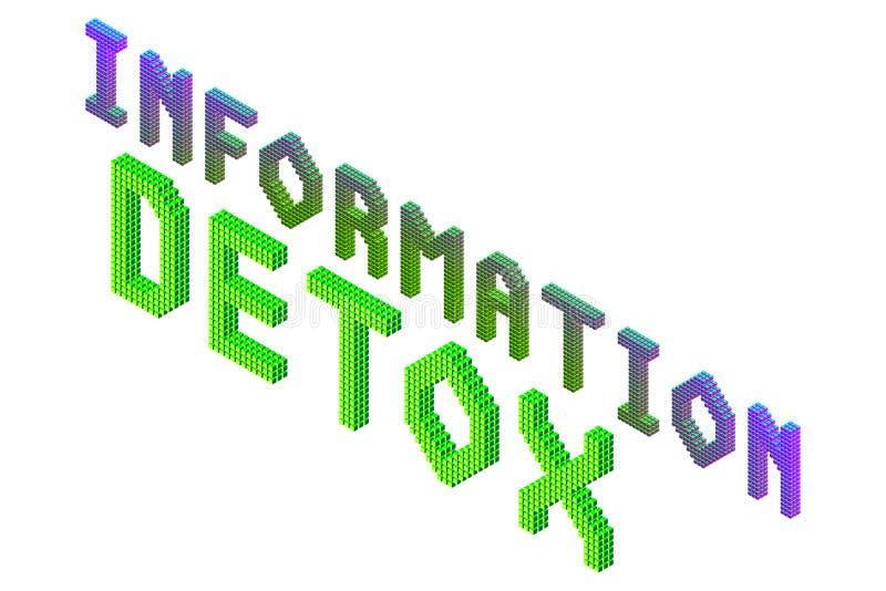 Informatie detox tekst vector illustratie
