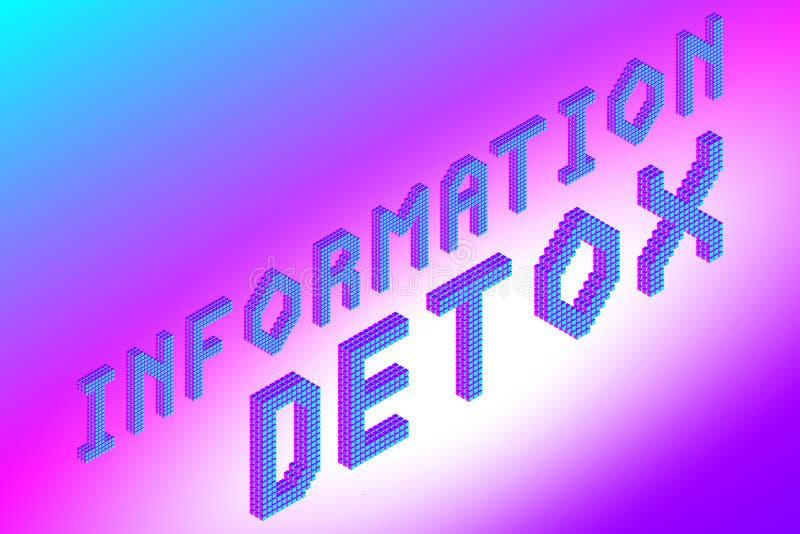 Informatie detox tekst stock illustratie