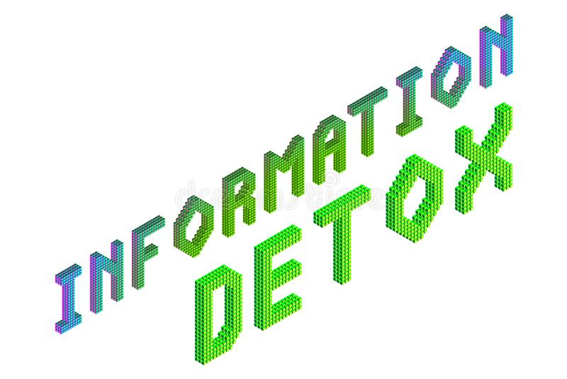 Informatie detox woorden stock illustratie