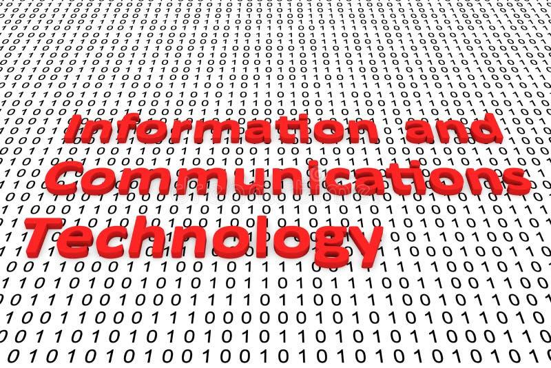 Informatie- en communicatietechnolgie stock illustratie