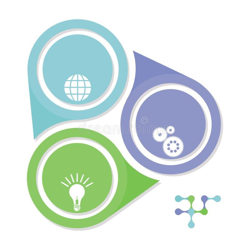 Informatie en gegevenssymbool vector illustratie