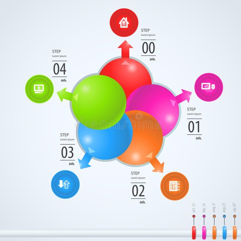 Informatie-grafisch royalty-vrije illustratie