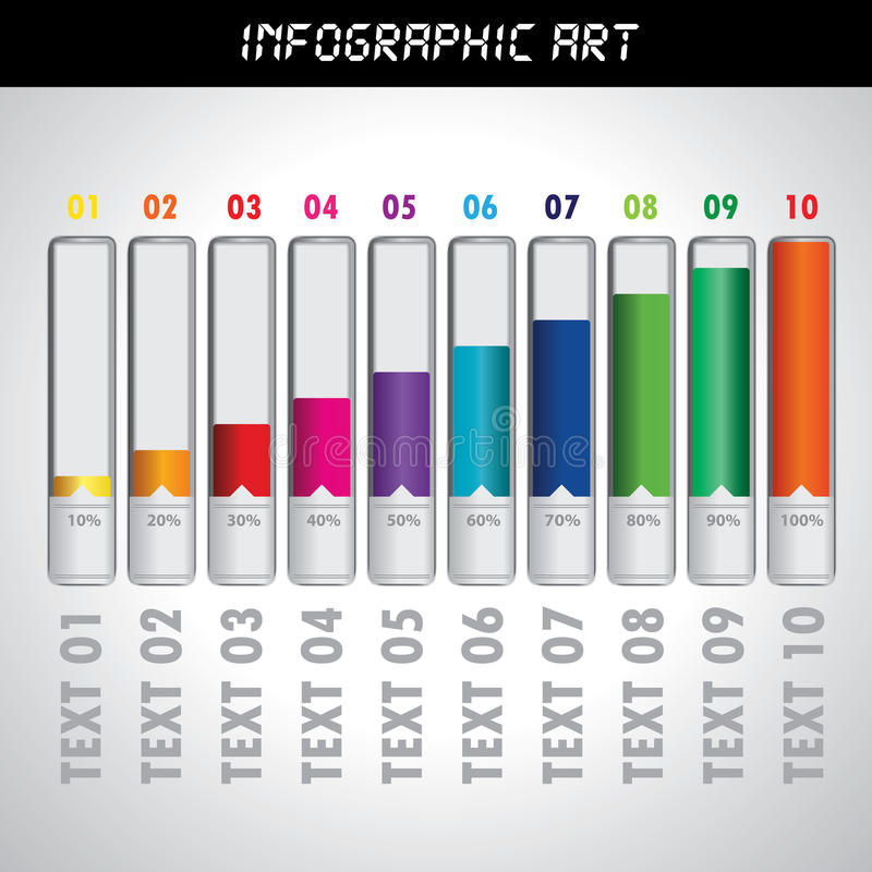 Informatie Grafisch Art. stock illustratie