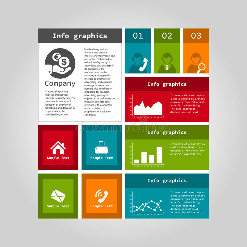 Informatie grafisch bedrijf royalty-vrije illustratie