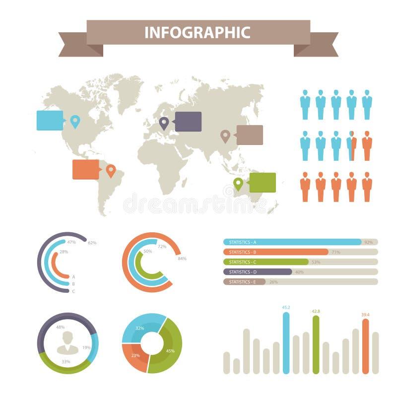 Informatie grafisch Elementen en Communicatie Concept stock illustratie