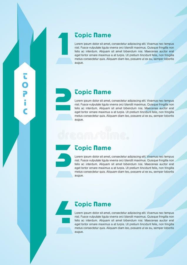 Informatie grafisch malplaatje royalty-vrije illustratie