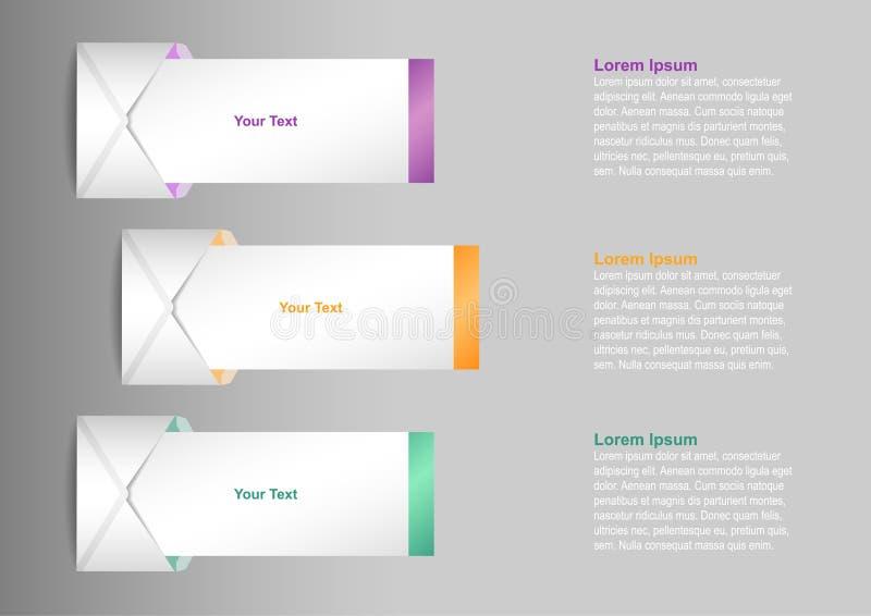 Informatie grafisch met brieven vector illustratie