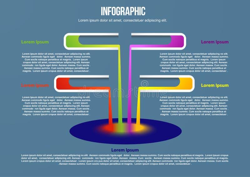 Informatie grafisch met reageerbuizen stock illustratie