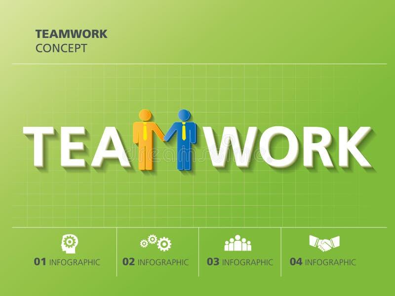 Informatie grafisch ontwerp, groepswerk stock illustratie