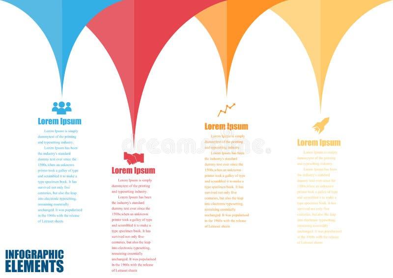Informatie-grafisch ontwerpmalplaatje stock illustratie