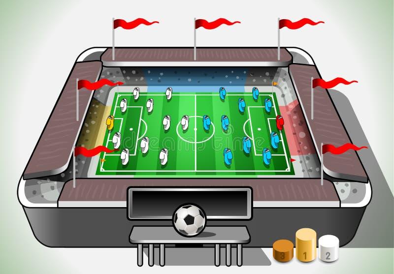 Informatie Grafisch Stadion met Spelerplaceholder stock illustratie