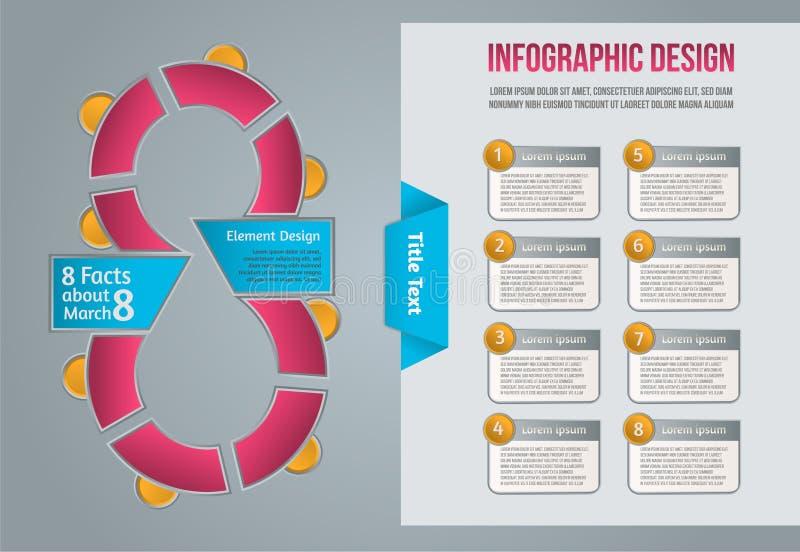 Informatie grafisch voor plaatsontwerp Bedrijfsgegevens Het ontwerpmalplaatje van de Webbanner Internet-pictogramvector royalty-vrije stock afbeelding