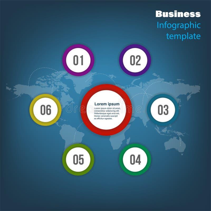 Informatie grafisch voor zaken Kan voor diagram, jaarverslag, Webontwerp worden gebruikt vector illustratie