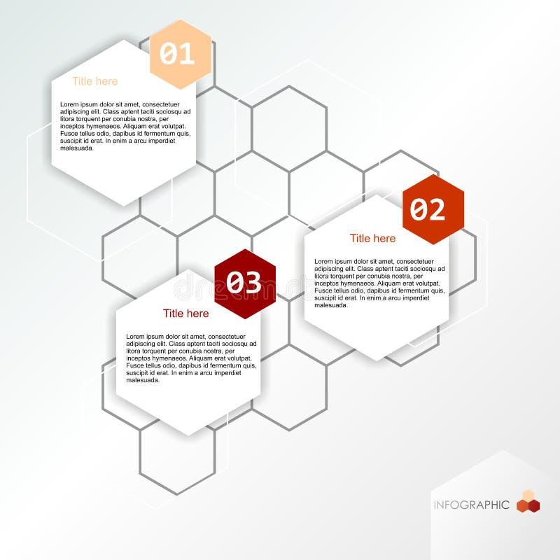 Informatie grafische banner royalty-vrije illustratie