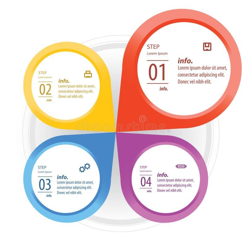 Informatie-grafische elementen stock illustratie