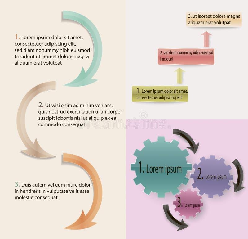 Informatie grafische elementen stock illustratie