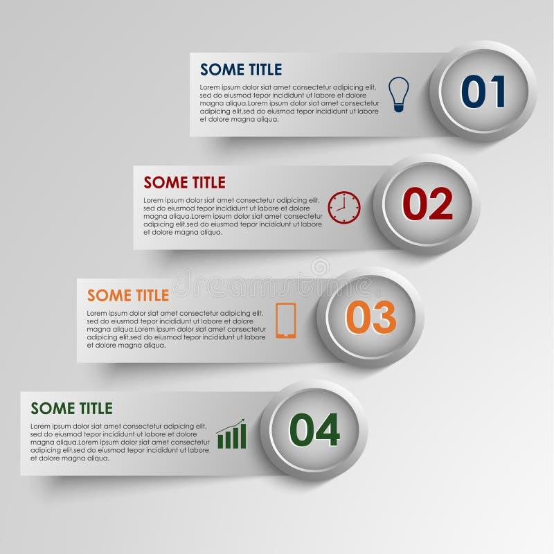 Informatie grafische gestreepte gekleurde achtergrond stock illustratie