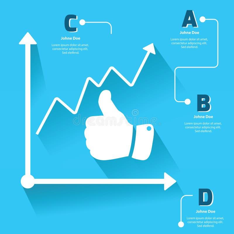 Informatie-Grafische hand stock illustratie