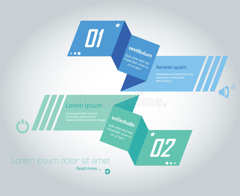 Informatie-grafische Origami stock illustratie