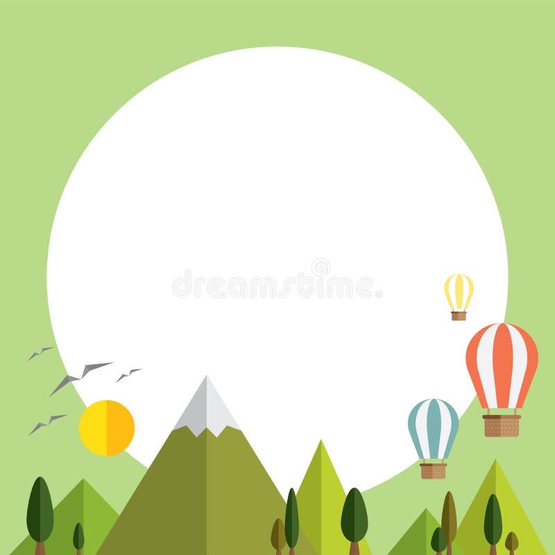 Informatie grafische weg en document aard Het concept over eco en bewaart wereld stock illustratie