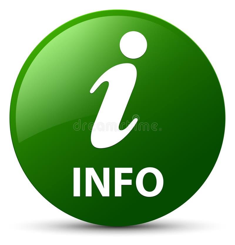 Informatie groene ronde knoop stock illustratie