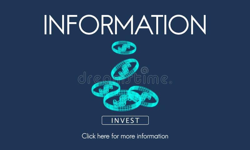 Informatie-inhoudonderzoek die Statistiekenconcept delen vector illustratie