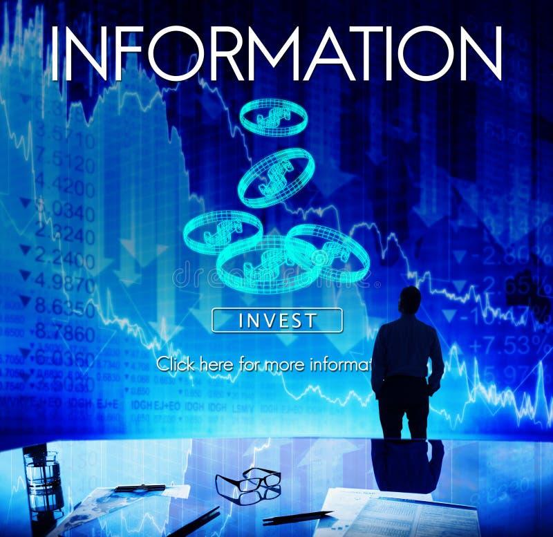 Informatie-inhoudonderzoek die Statistiekenconcept delen royalty-vrije stock afbeelding