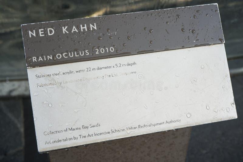 Informatie over Marina Bay Sands Rain Oculus langs stock afbeelding