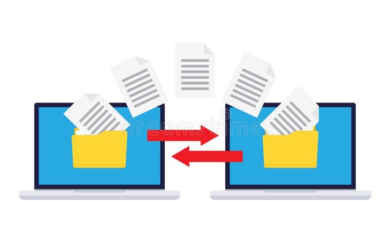 Informatie-uitwisseling tussen computers royalty-vrije illustratie