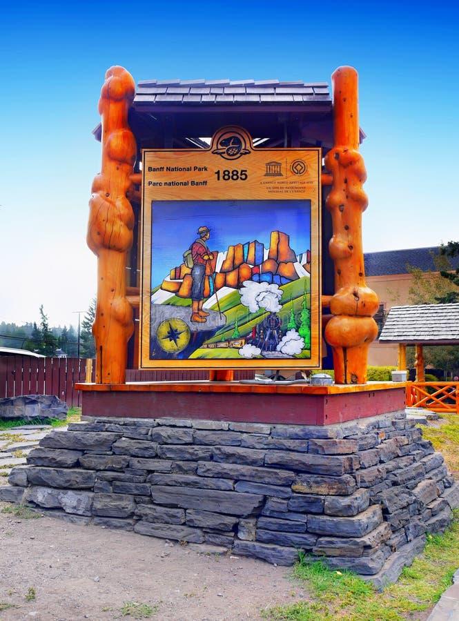 Informatie van het Banff de Nationale Park, Alberta Canada royalty-vrije stock afbeelding