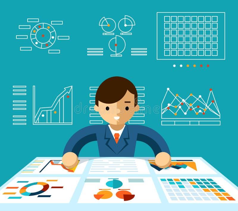 Informatieanalyse royalty-vrije illustratie