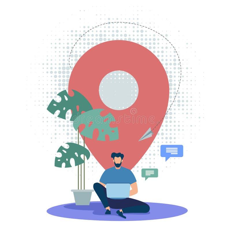 Informatiebannerplaats-Specifiek Voorwerp royalty-vrije illustratie